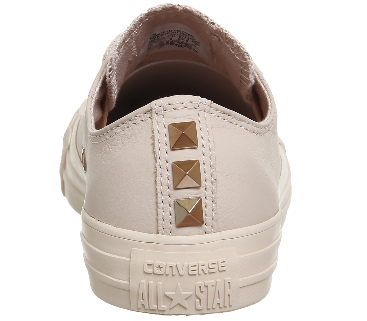 Womens Converse Converse Womens All Star Low Leather DUST PINK STUD EXCLUSIVE Trainers Shoes 1866cb