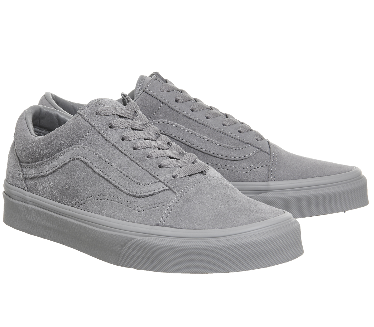 9c80b37ef37b61 Mens Vans Old Skool Trainers FROST GREY SUEDE EXCLUSIVE Trainers ...