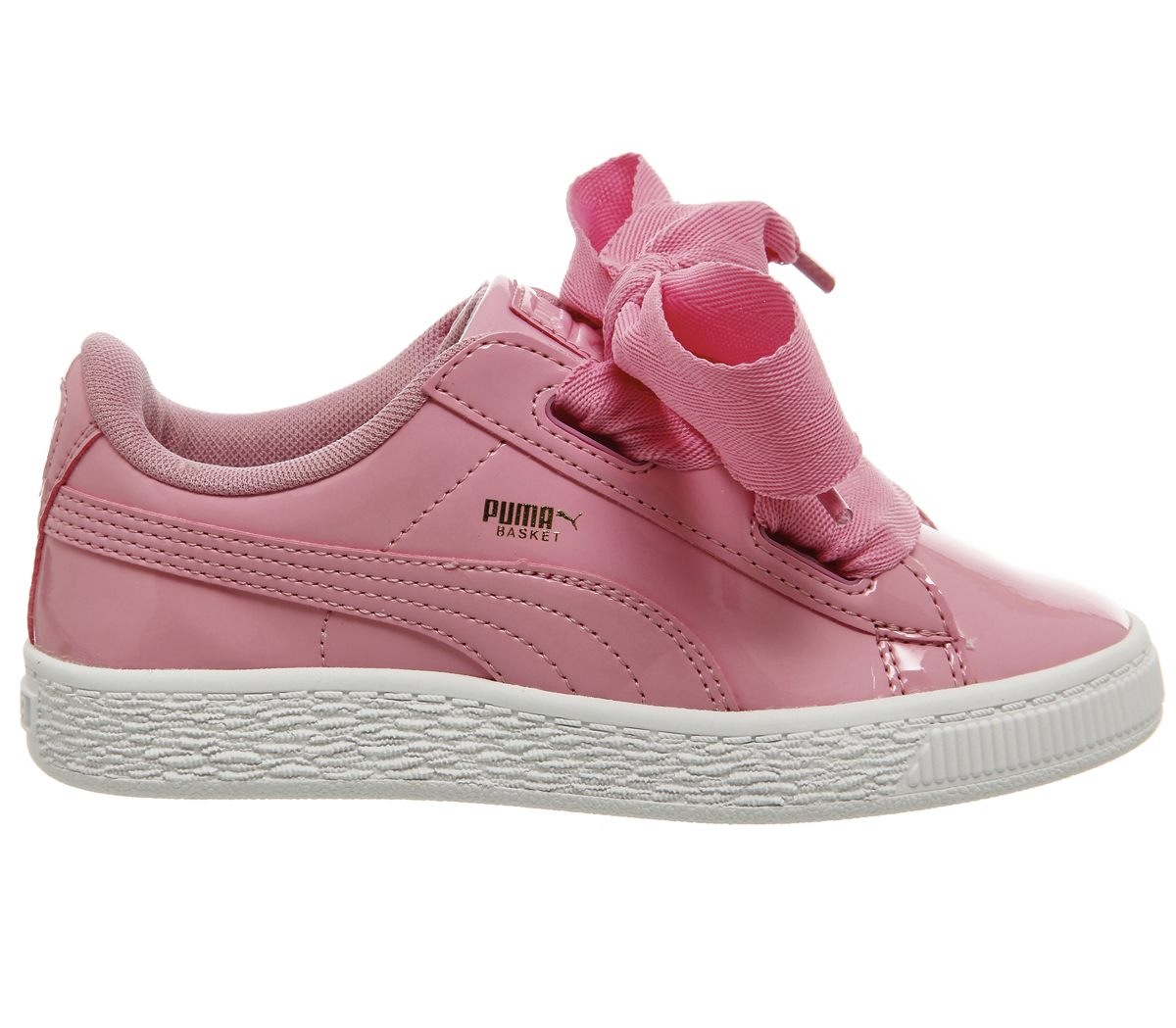check out 05f63 4336d Details about Kids Puma Basket Heart Ps Prism Pink Patent Kids