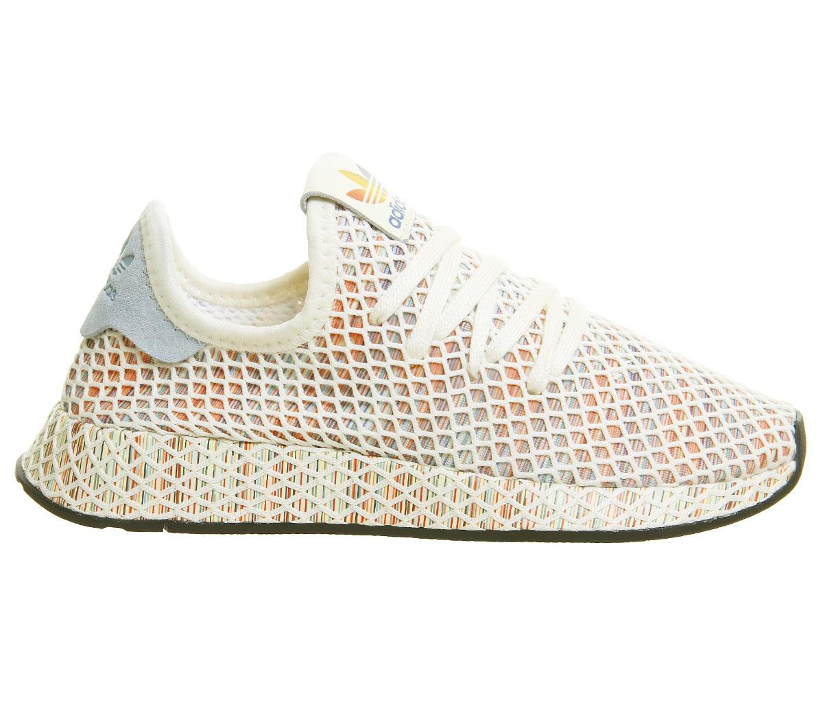 buy popular f6b38 4eb41 CENTINELA Hombres Adidas Deerupt entrenadores orgullo crema base blanco  negro zapatillas zapatos