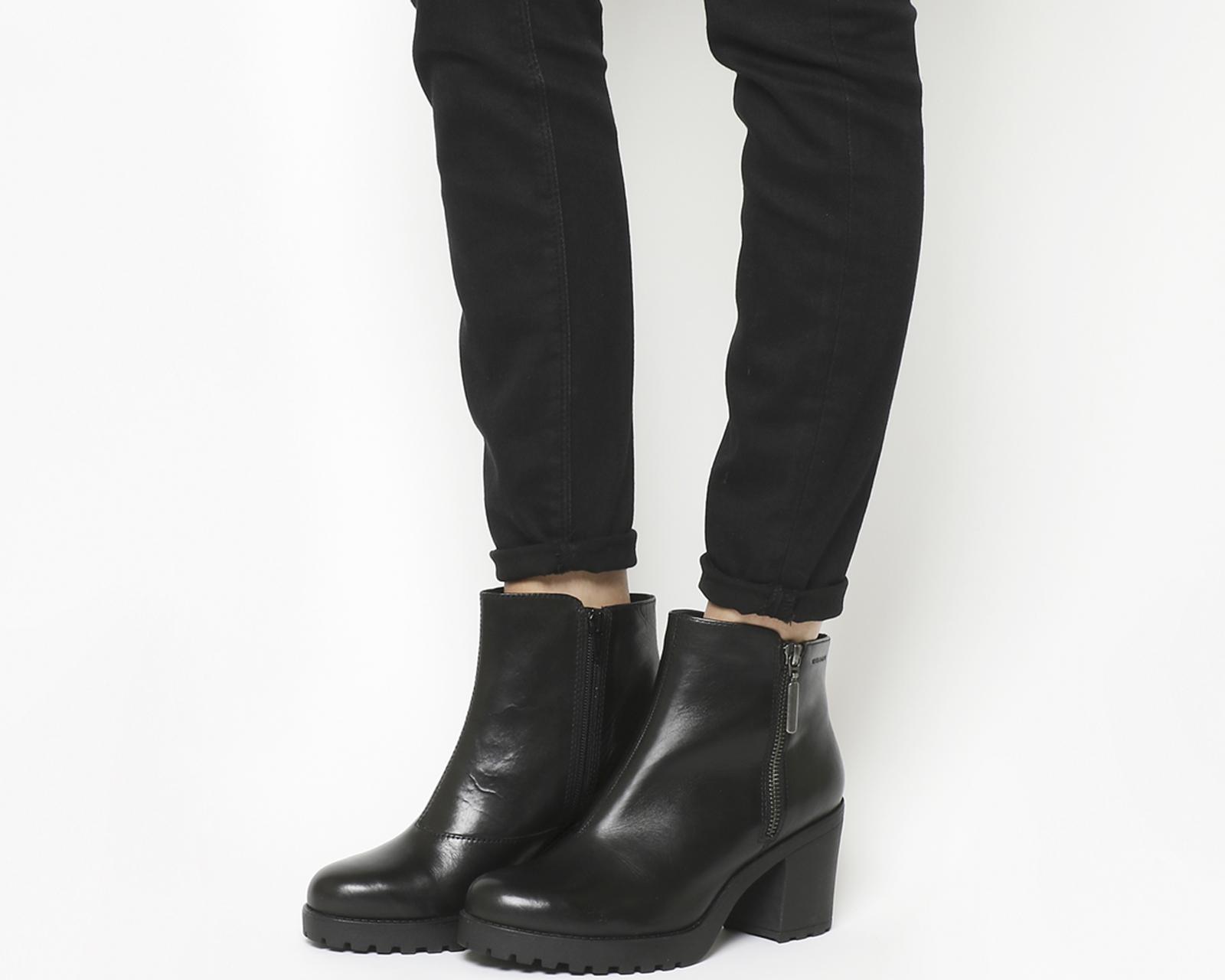579f4d5c340 Details about Womens Vagabond Grace Side Zip Boots Black Leather Boots