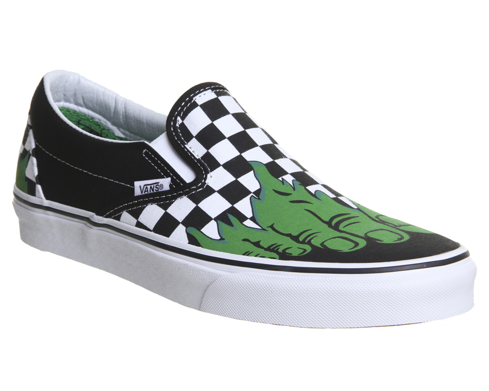bab2c04ee5ede7 Sentinel Mens Vans Vans Classic Slip On Trainers Hulk Checkerboard Marvel  Trainers Shoes