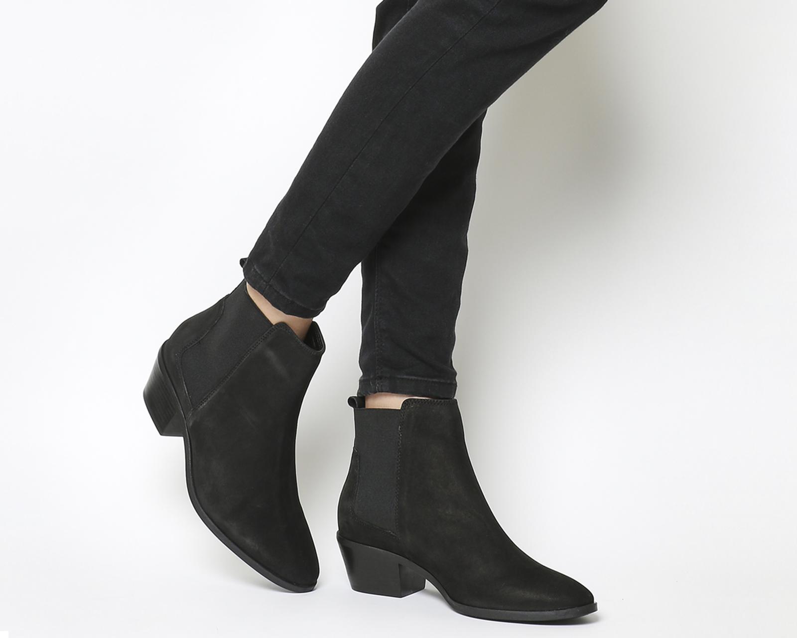 Womens Office Animate Chelsea Boots Black Nubuck