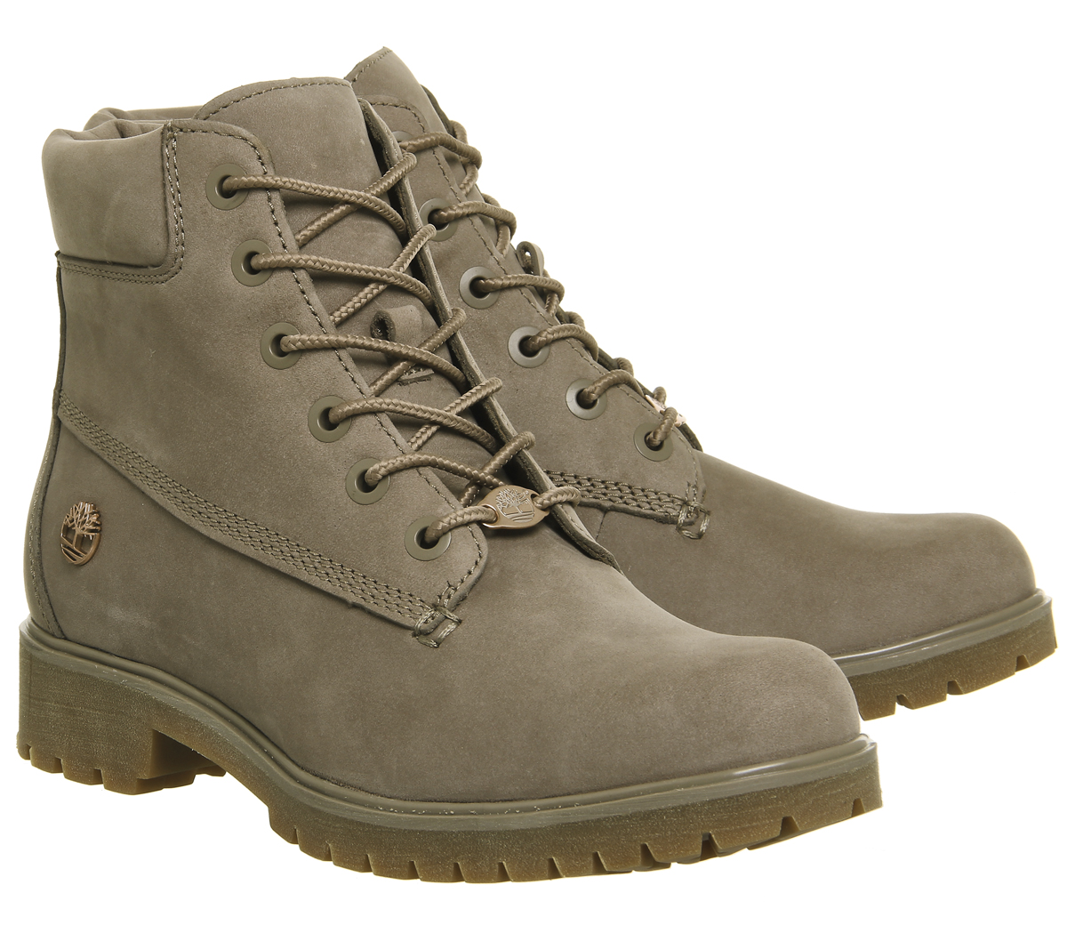 dadd28266cfdc Womens Timberland Slim Premium 6 Inch Boots Pine Bark Nubuck Boots ...