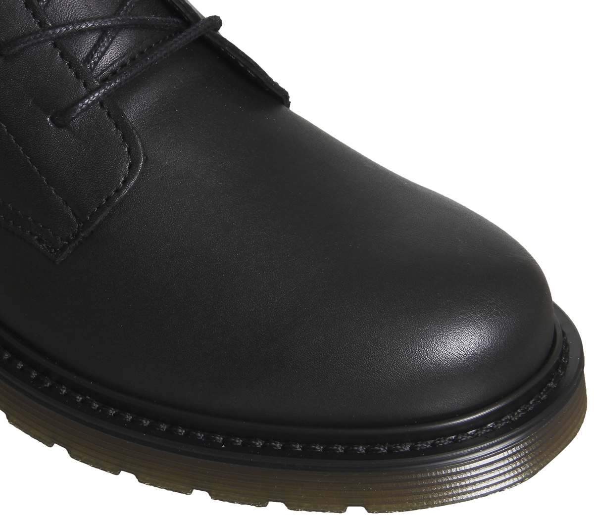 Damenschuhe Cleated Office Audio Lace Up Cleated Damenschuhe Stiefel BLACK LEATHER Stiefel 4876a5