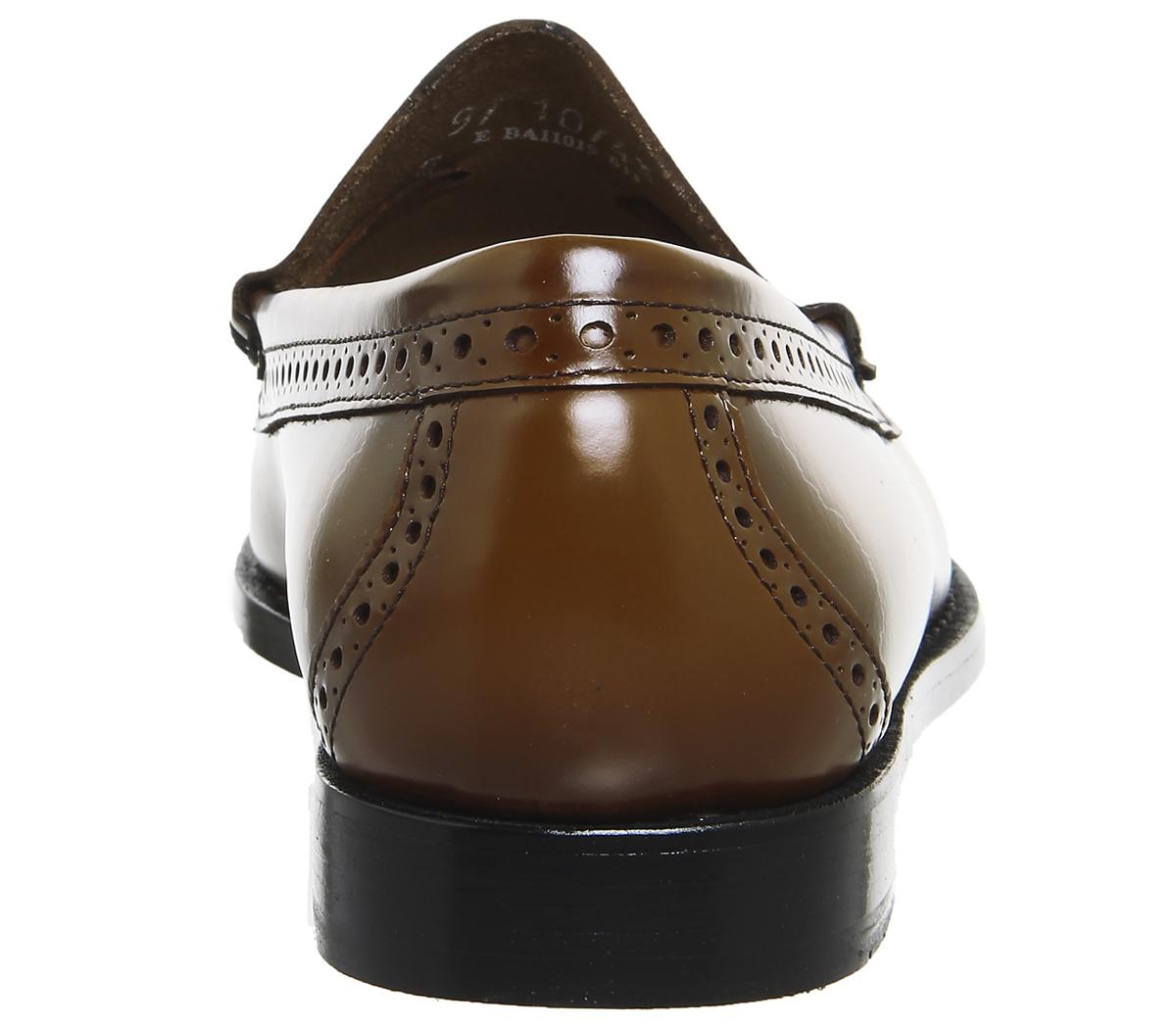 marrone Larkin scuro formali Mens in Co con G Mocassini h pelle Bass Scarpe nappine Brogue qgw4axRg