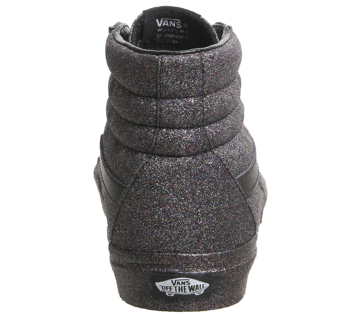 Rainbow Chaussures femme de Black Glitter sport Hi Vans Sk8 BqF0Bgrw