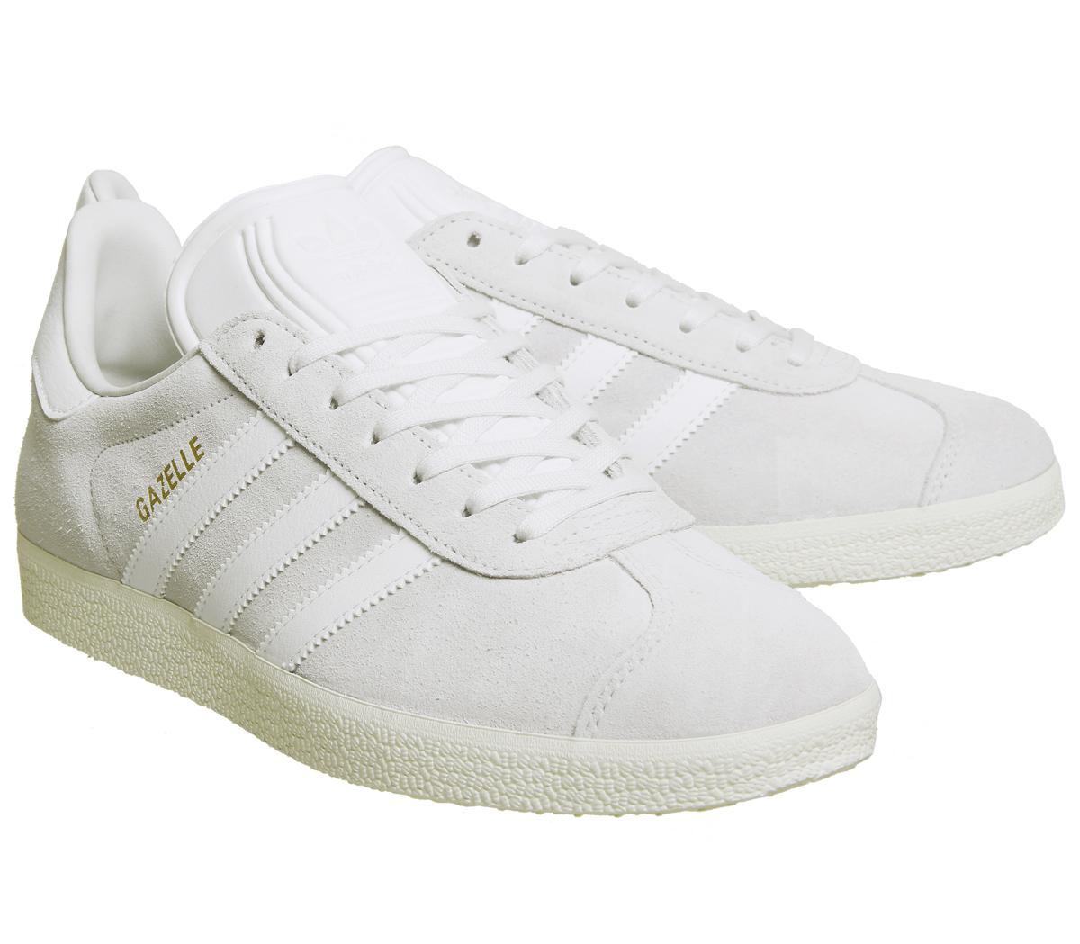 zapatillas gazelle blancas