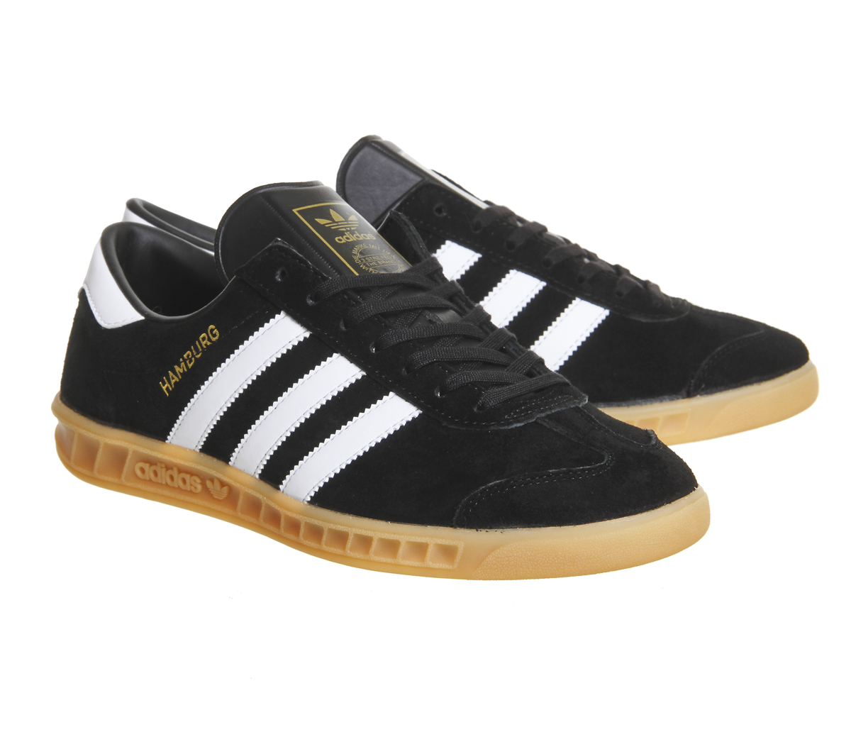 9e73b0bb52eb Adidas-Hamburg-BLACK-GUM-Trainers-Shoes thumbnail 7