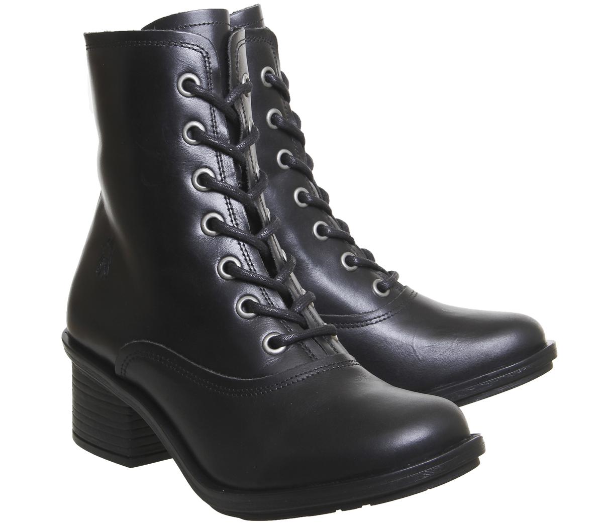 Damenschuhe Stiefel Fly London Carm Lace Stiefel Damenschuhe BLACK RUG Stiefel add9af