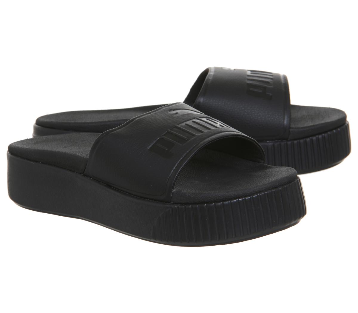 695505505c0 Womens Puma Platform Slides Puma Black Puma Black Sandals
