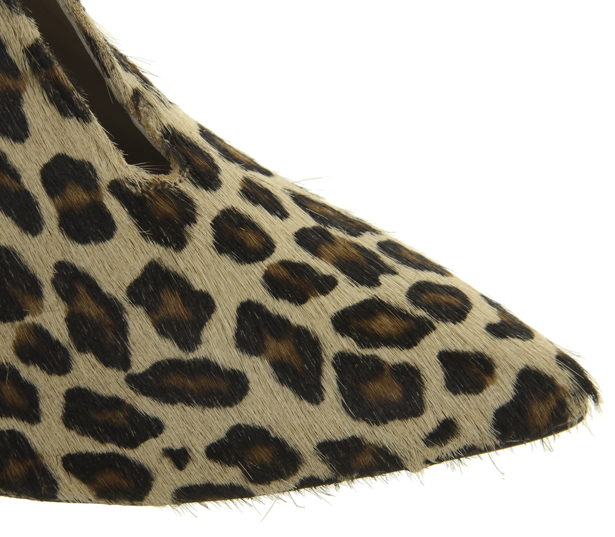 c221fb83181 Details about Womens Office Mojo Shoe Boots Leopard Pony Effect Heels