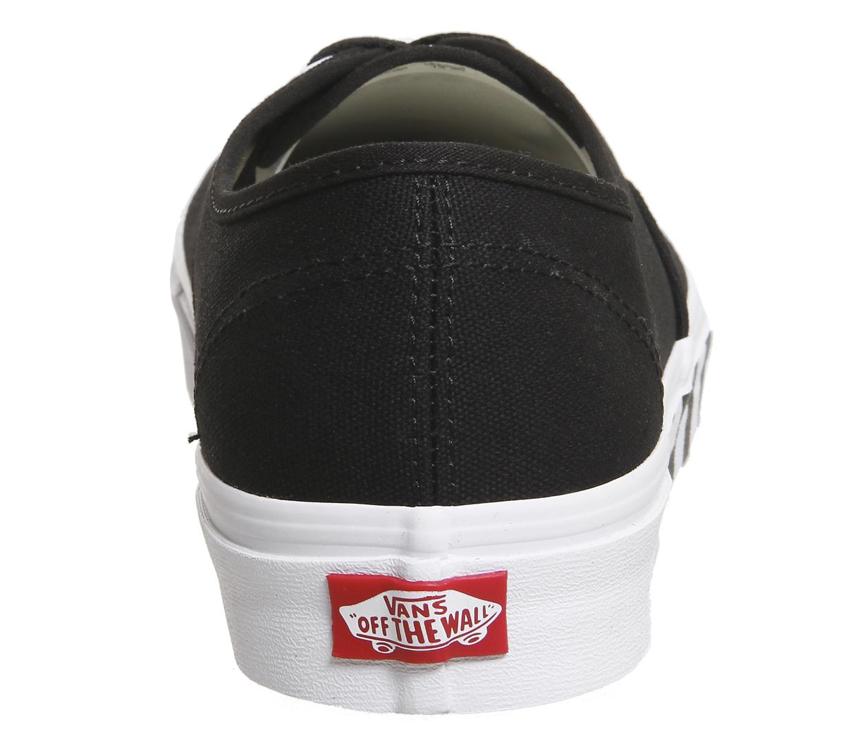 9c0ee3bf45 Zapatillas para hombre Vans Auténticas Negras Auténtico Blanco a ...