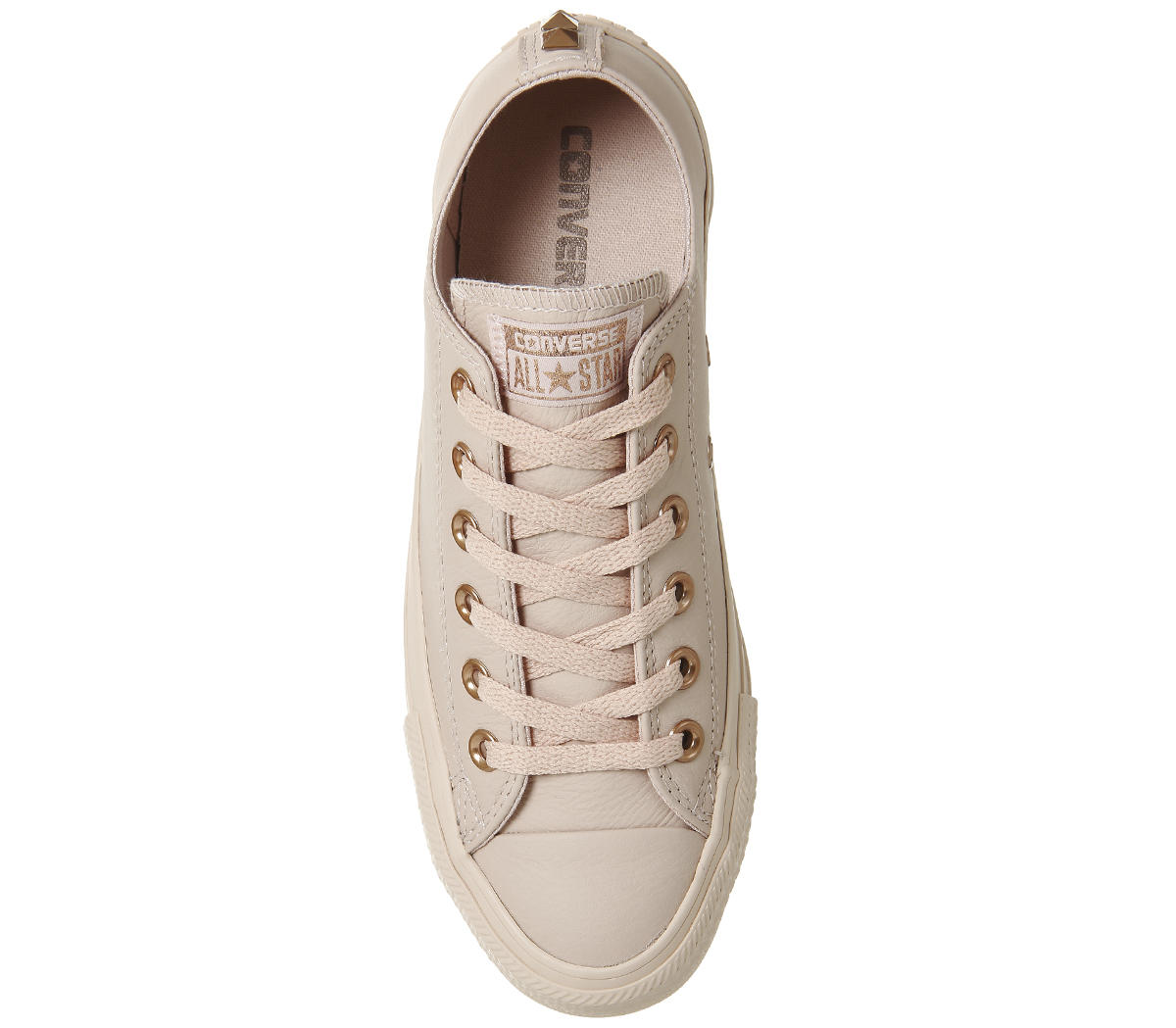b48418048251 Sentinel Womens Converse All Star Low Leather Dust Pink Stud Exclusive  Trainers Shoes