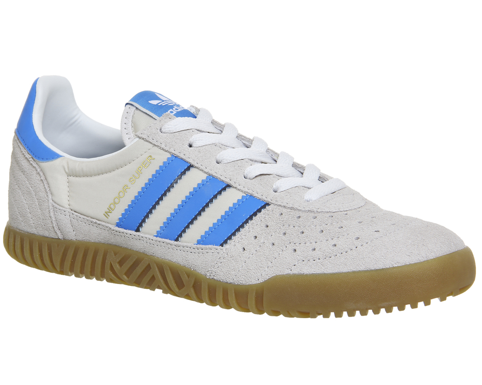 0f8cd408720819 Sentinel Adidas Indoor Super VINTAGE WHITE BRIGHT BLUE Trainers Shoes