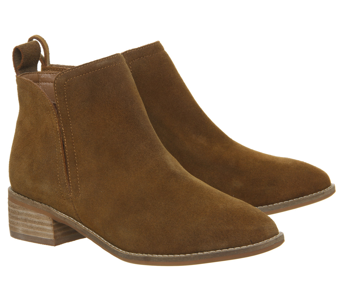 Damenschuhe Ankle Office Andreas Flat Ankle Damenschuhe Stiefel TAN SUEDE Stiefel c21dc3
