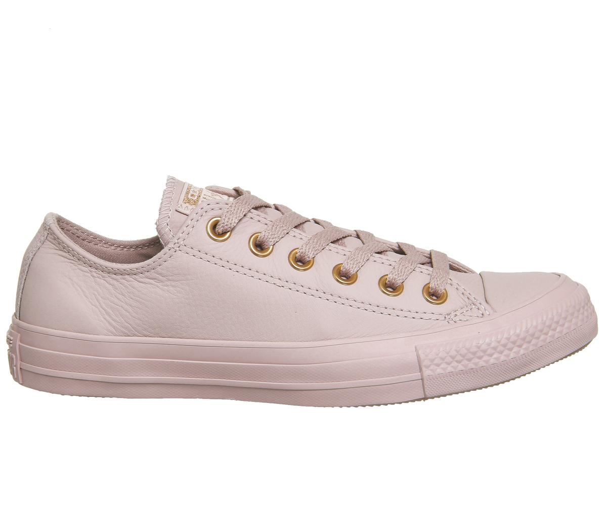blush leather converse