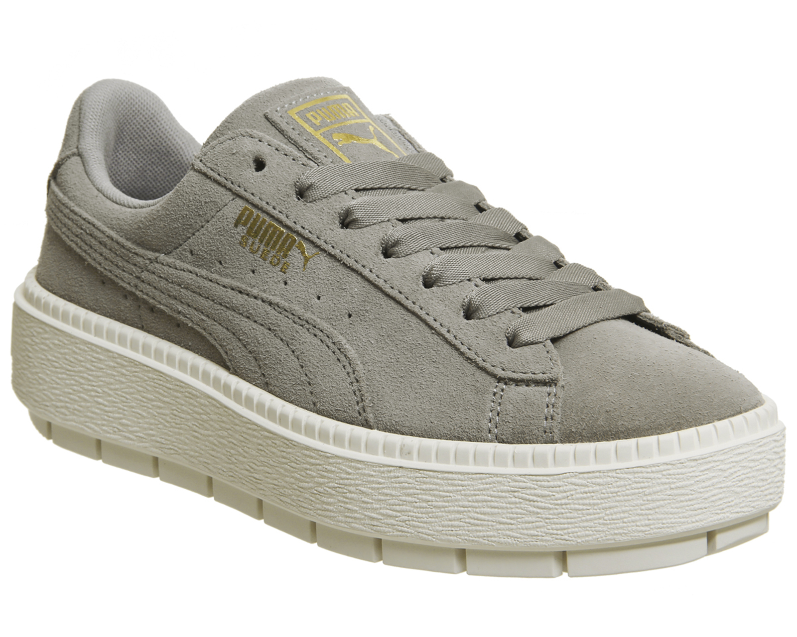 18507f438b3 Sentinel Womens Puma Suede Platform Trace Trainers ROCK RIDGE MARSHMELLOW  Trainers Shoes