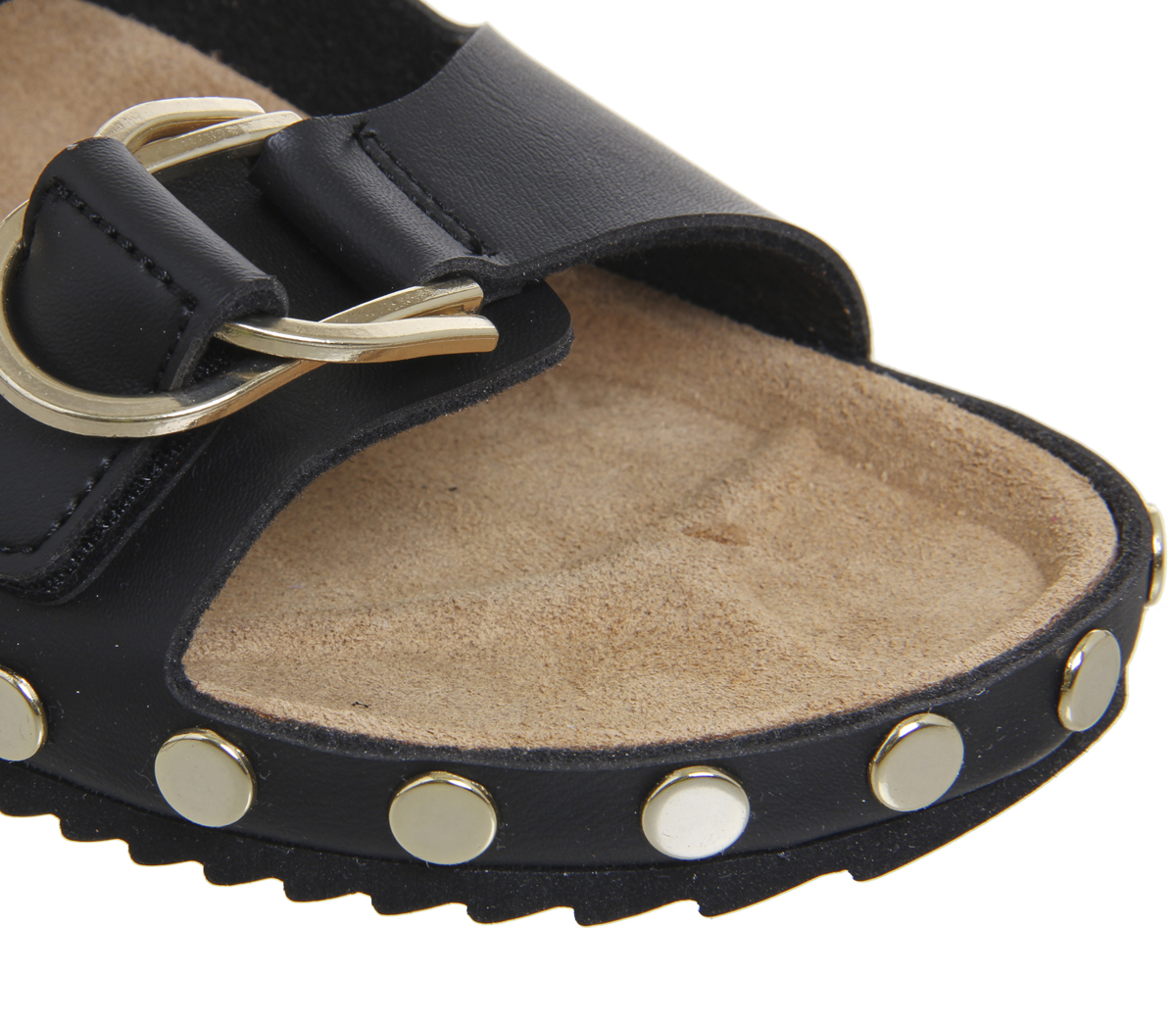 Damenschuhe Office Supersonic Footbed Sandales GOLD BLACK WITH GOLD Sandales STUDS Sandales ace1ad