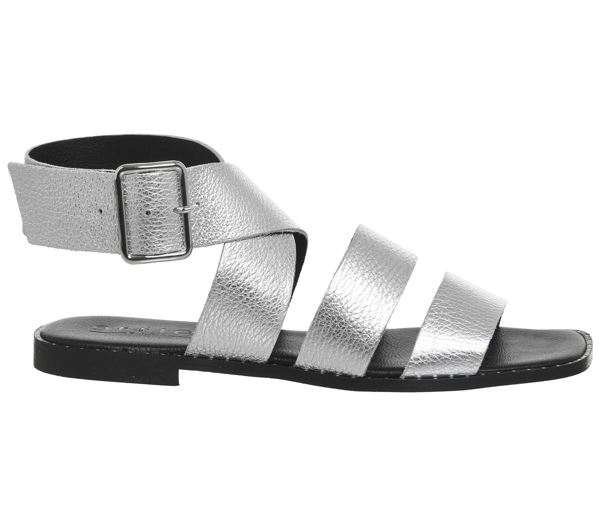 donna OFFICE San Fran Sandali con cinturino alla Caviglia argento