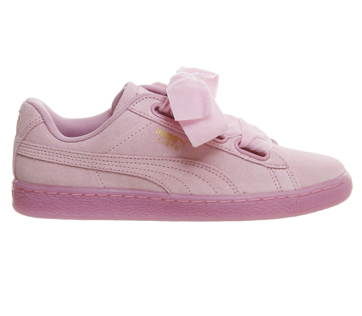 PUMA Suede Heart Satin Sneaker in rosa tg. 38/UK 5 NUOVO