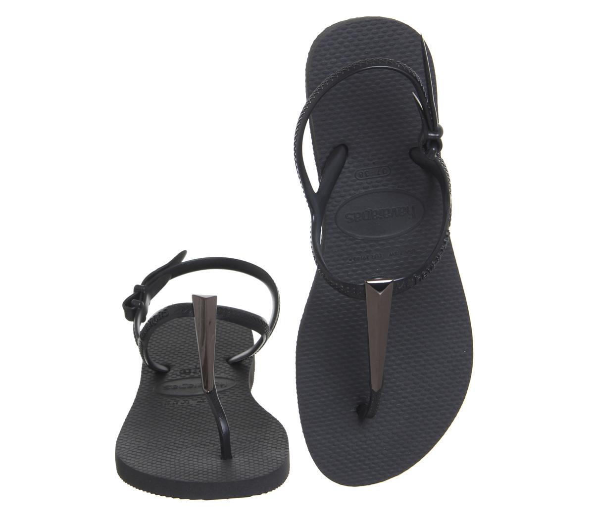 d90c34639f7 Womens-Havaianas-Freedom-Sl-Maxi-Black-Sandals thumbnail 8