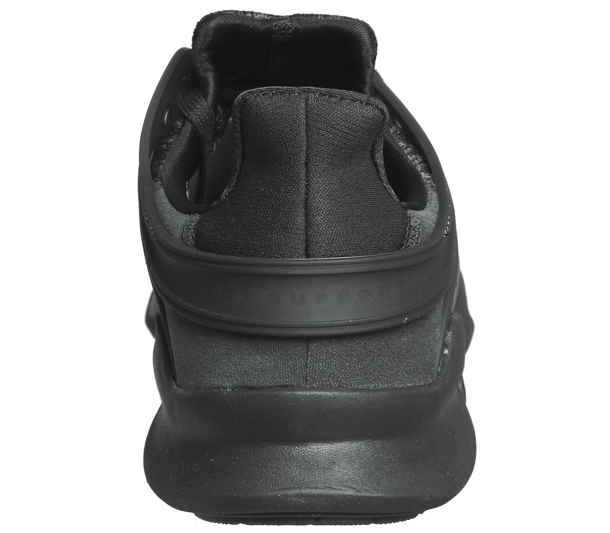 5e967c50a0ff7 Mens Adidas Equipment Support Adv Black Mono Trainers Shoes   eBay