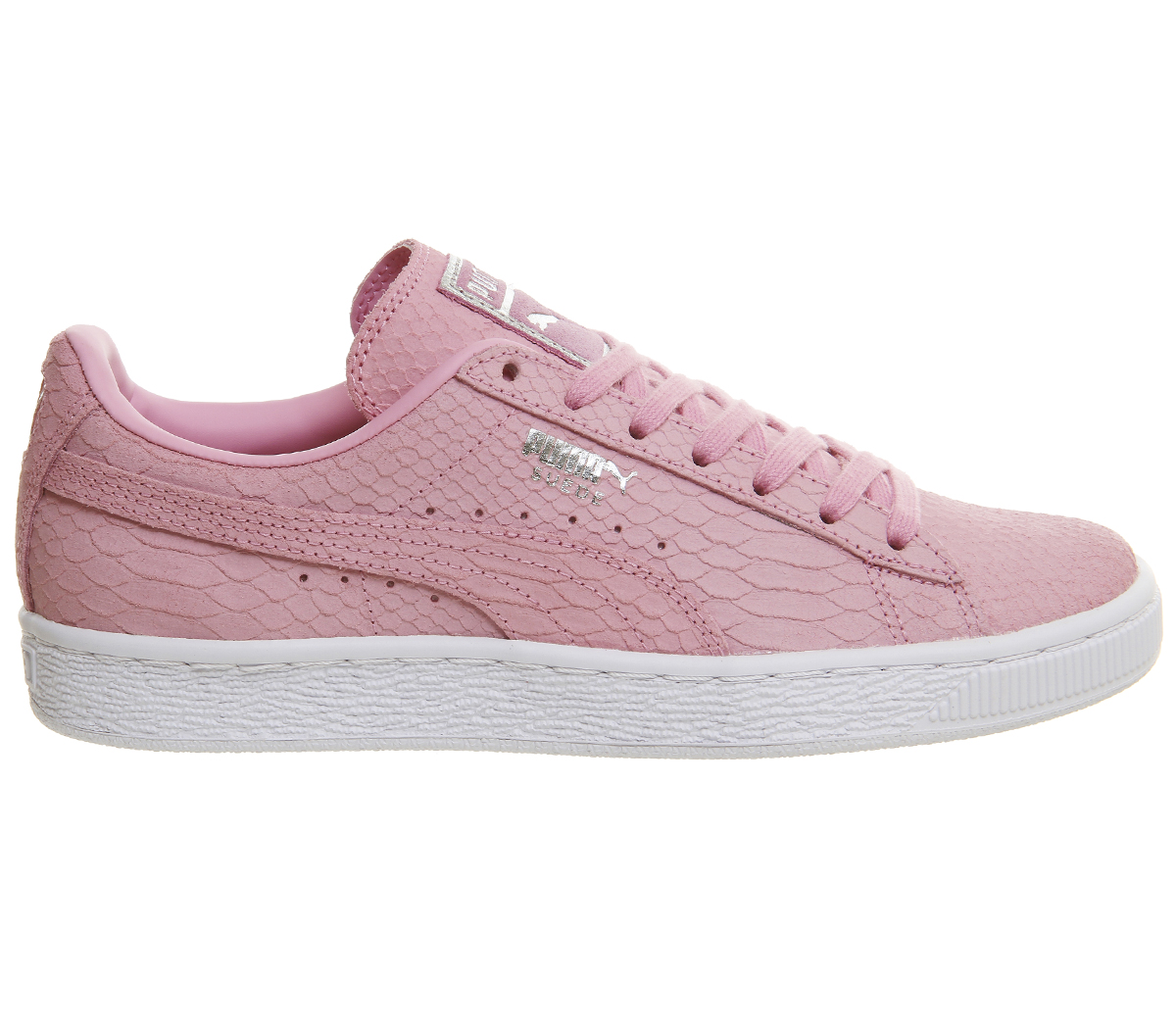 91a3f82a6 Sentinel Womens Puma Suede Classic Prism Pink White Exotic Trainers Shoes