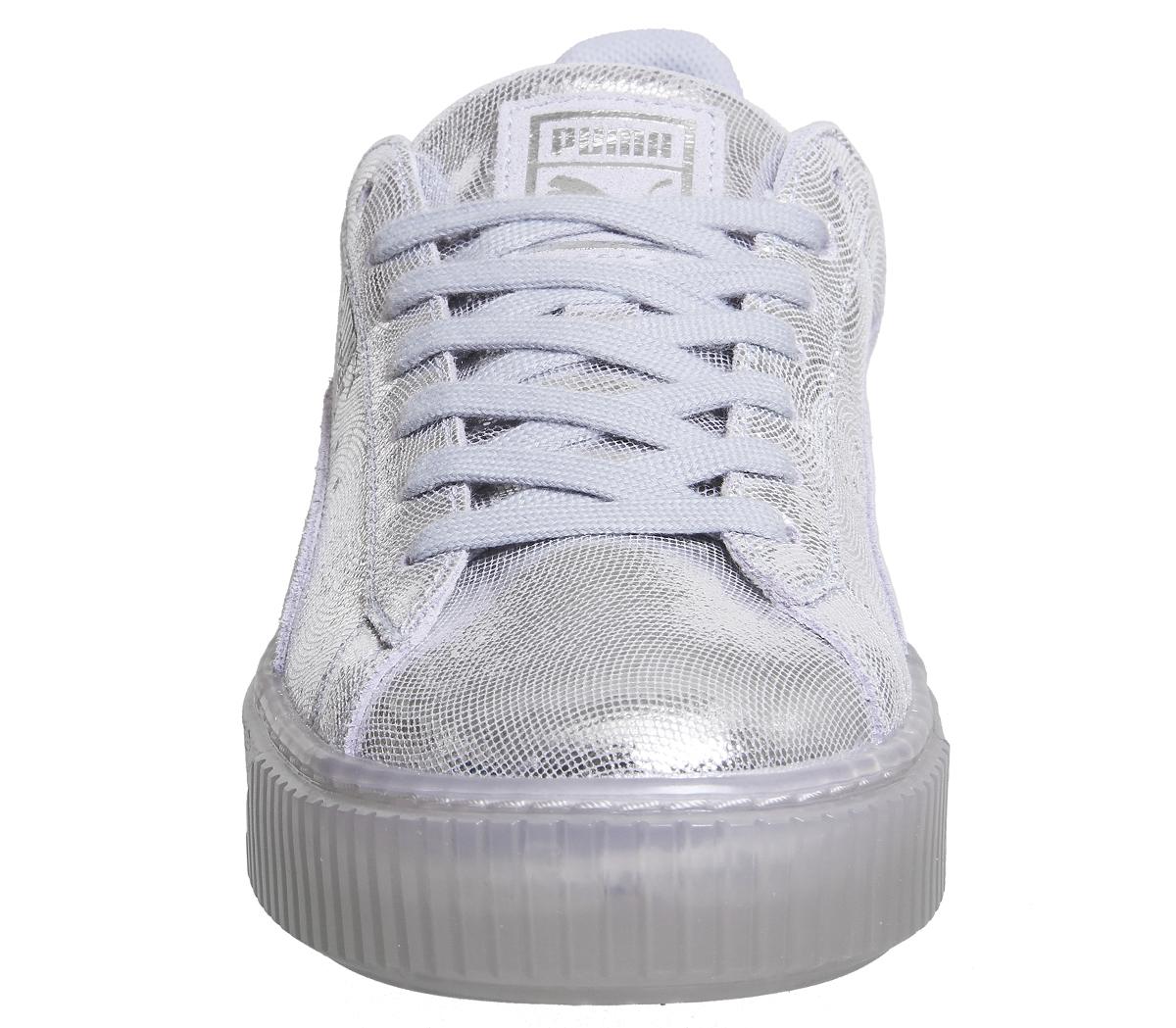 buy popular e7db7 9bbc8 ... Zapatillas para mujer plataforma de cesta de Puma islandés Azul Brillo  Zapatillas Zapatos ...