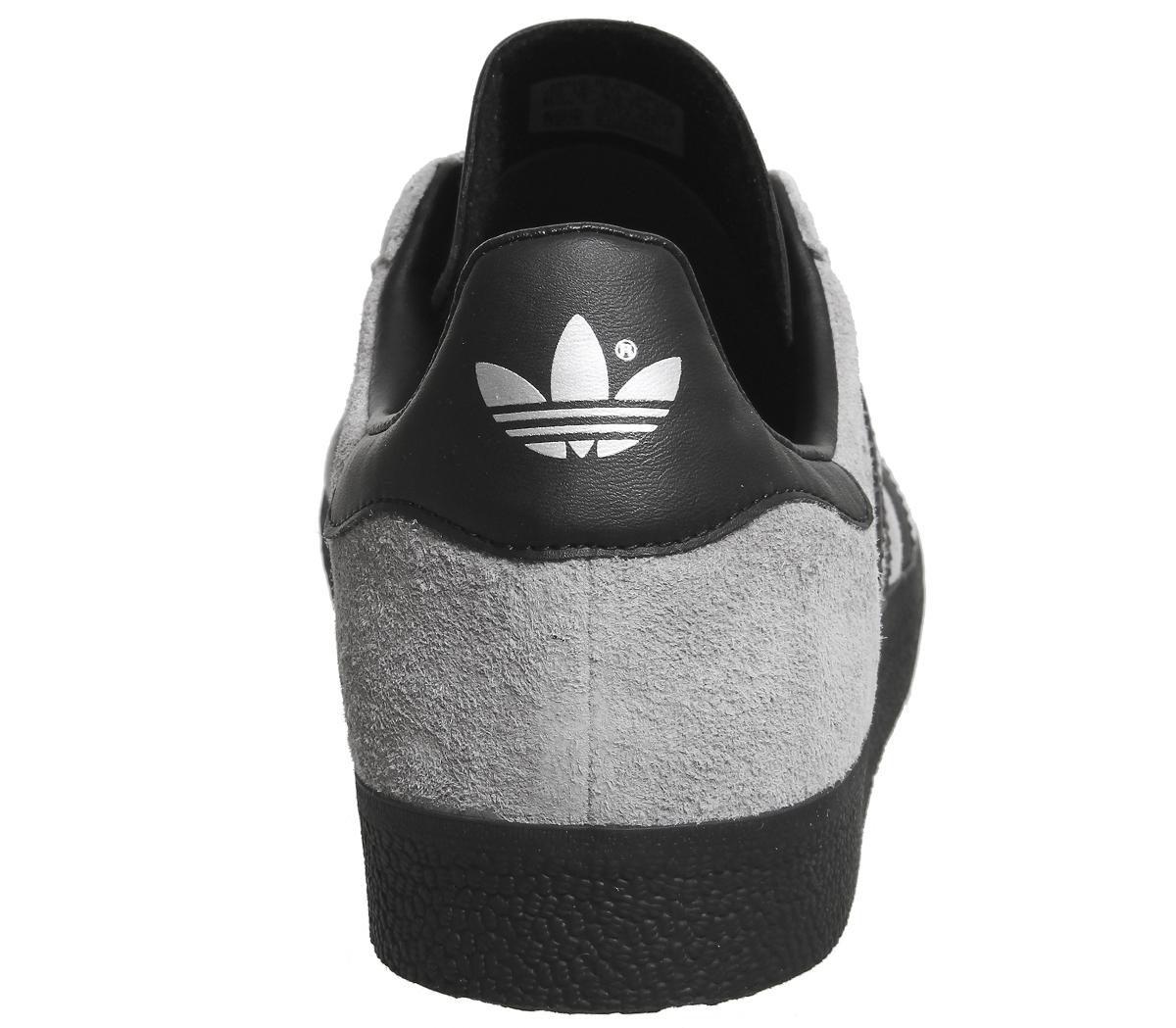 adidas gazelle grey and black