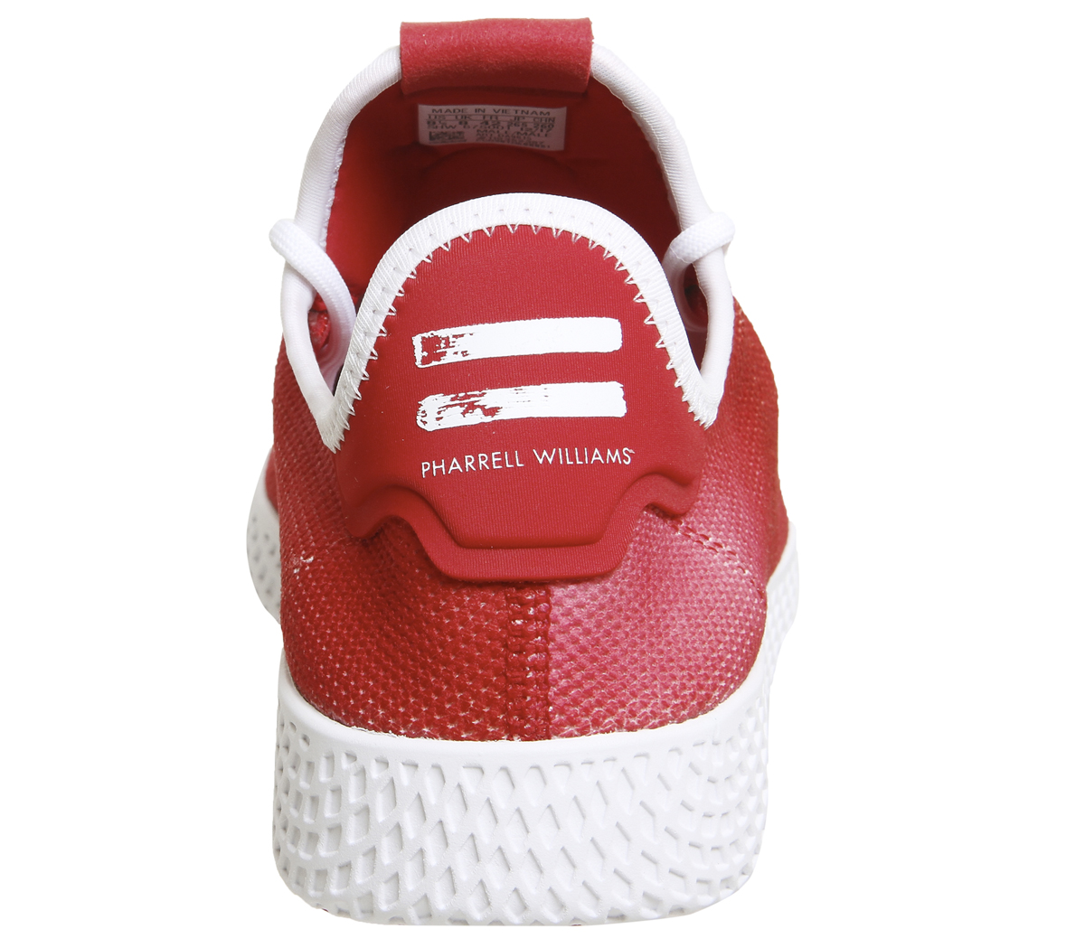 Mens Adidas Pw Tennis Trainers SCARLET WEISS WEISS Trainers Schuhes