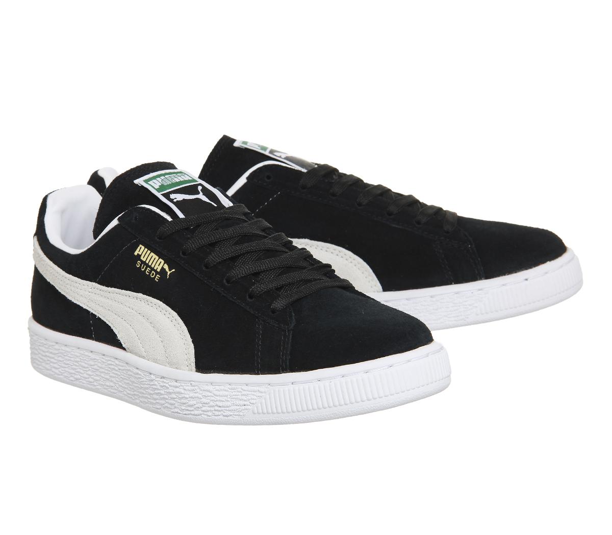Puma Suede S Scarpe da ginnastica uomo nero/bianco Scarpe casual sneakers calzature