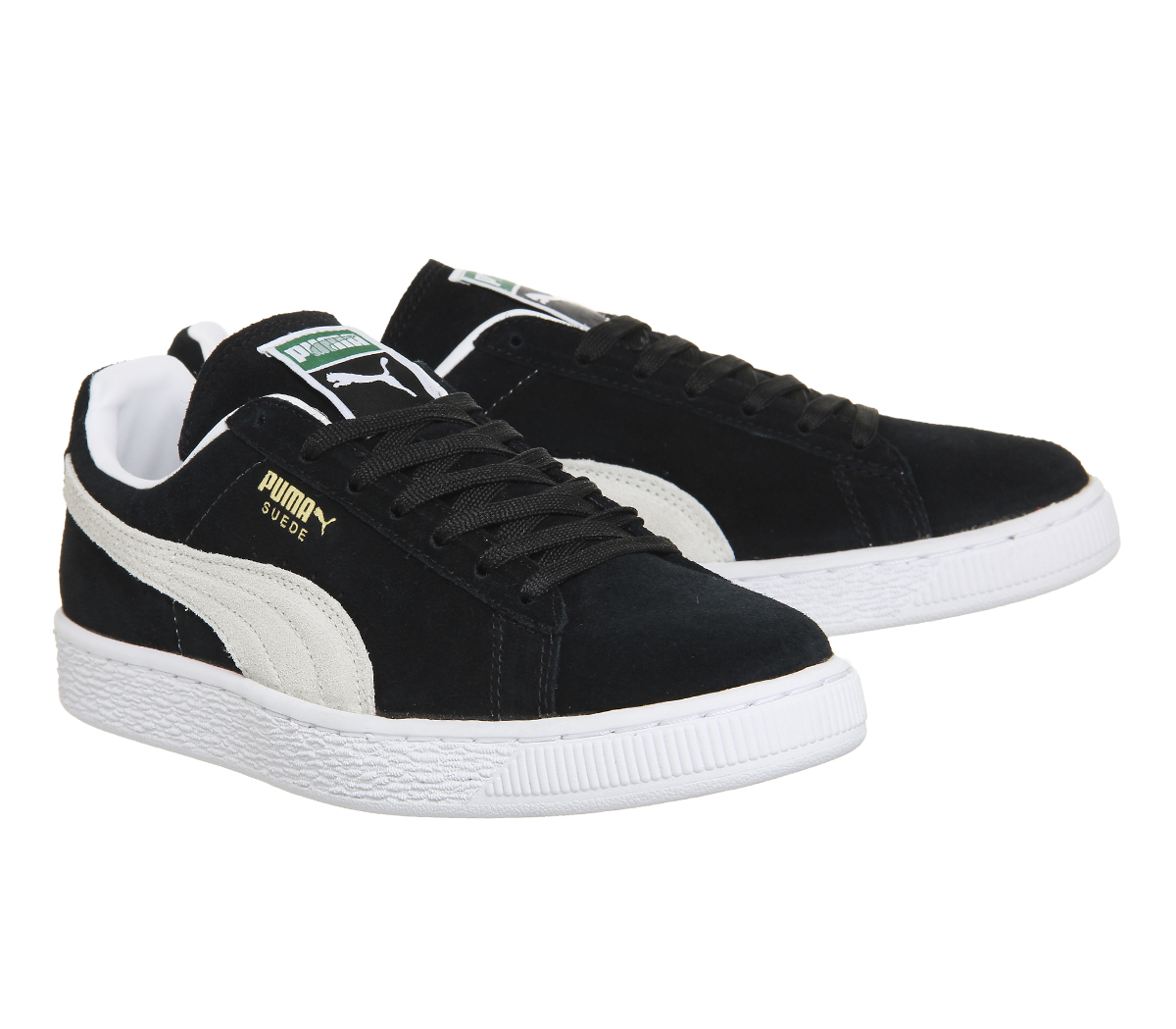 Sentinel Mens Puma Suede Classic BLACK WHITE Trainers Shoes 3c9a0a8c3