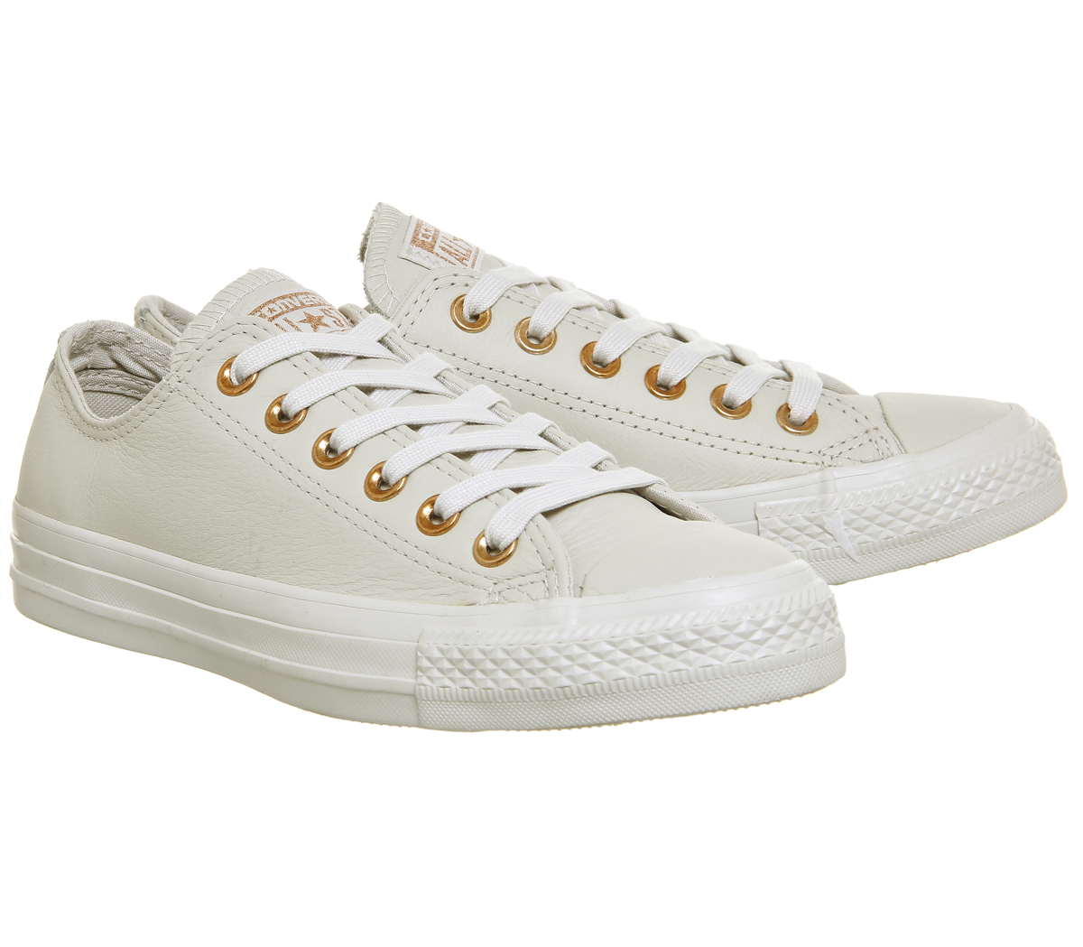 Damen Converse All Kitty Star Niedrig Leder Pale Kitty All Rotgold Turnschuhe 2ebe9c