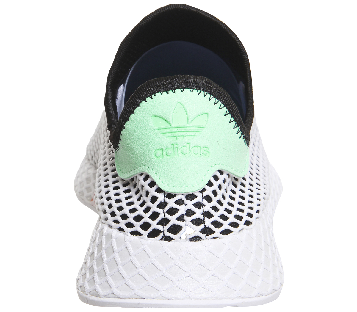 6aeb6ae654b Sentinel Mens Adidas Deerupt Trainers CORE BLACK EASY GREEN WHITE Trainers  Shoes