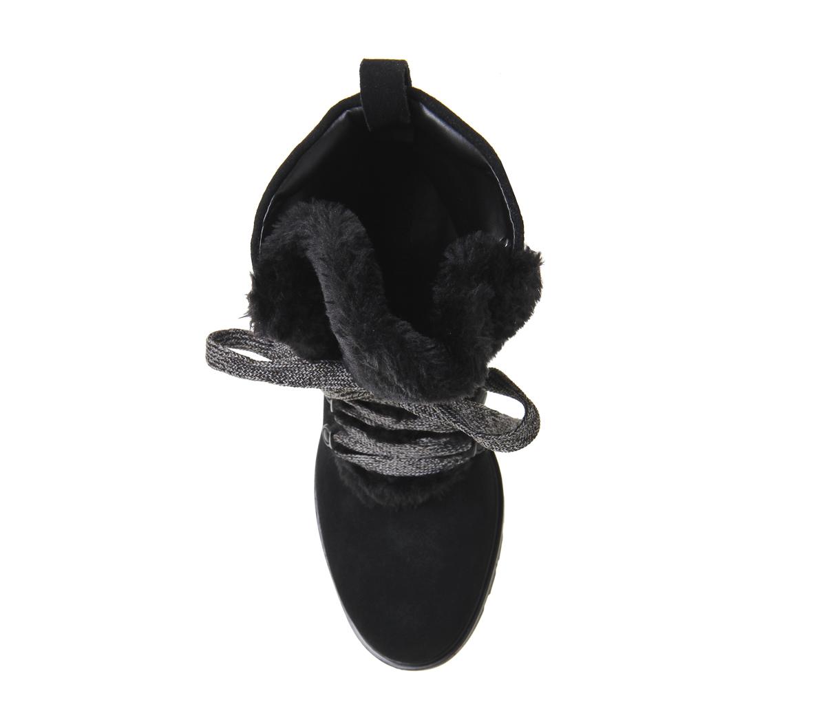 Damenschuhe Kendall - Kylie Spencer Hiker BLACK SUEDE Stiefel