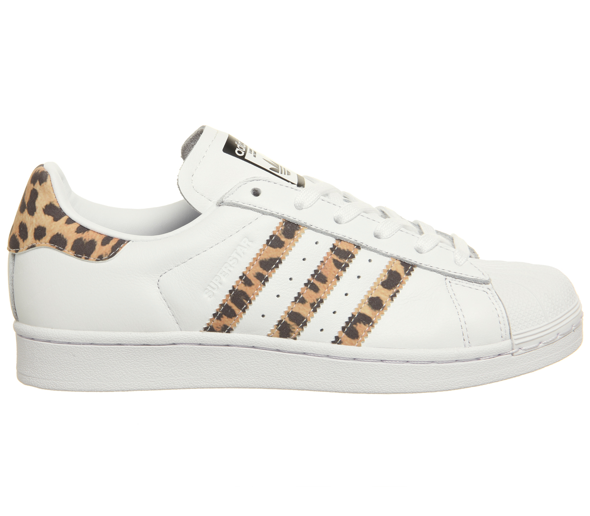 Wo Hommes Adidas Superstar 1 Trainers LEOPARD blanc  LEOPARD Trainers CORE Noir F Trainers Chaussures 9bcc87