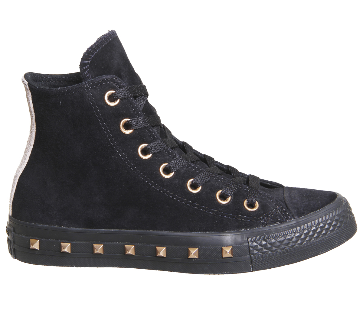 c0415c32cff8d3 Womens Converse All Star Hi Leather STUD BLACK PARTICLE BEIGE BLUSH ...