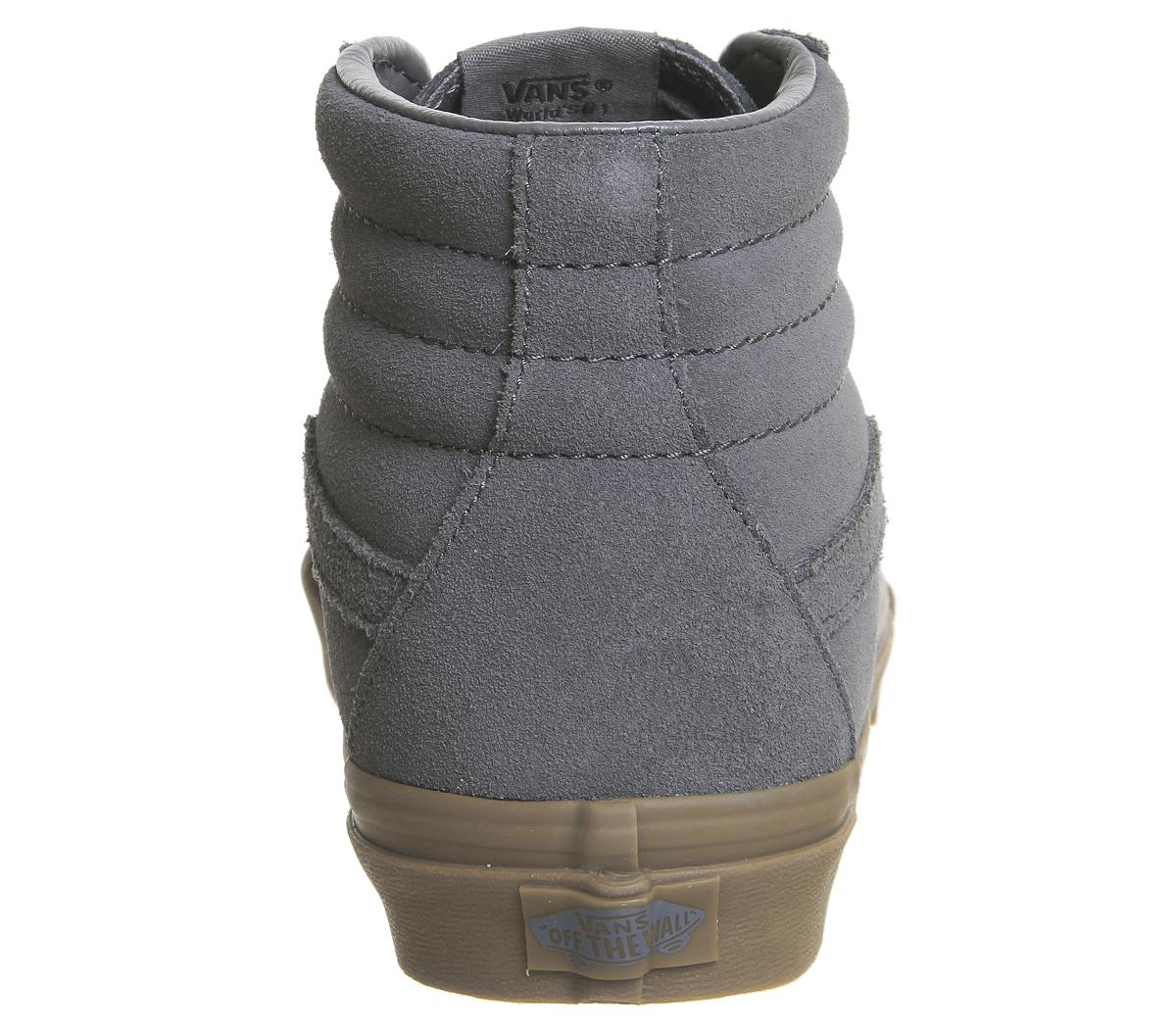 Hombre Vans Sk8 Sk8 Sk8 Hi Trainers Gris SUEDE GUM EXCLUSIVE Trainers Zapatos 93382d