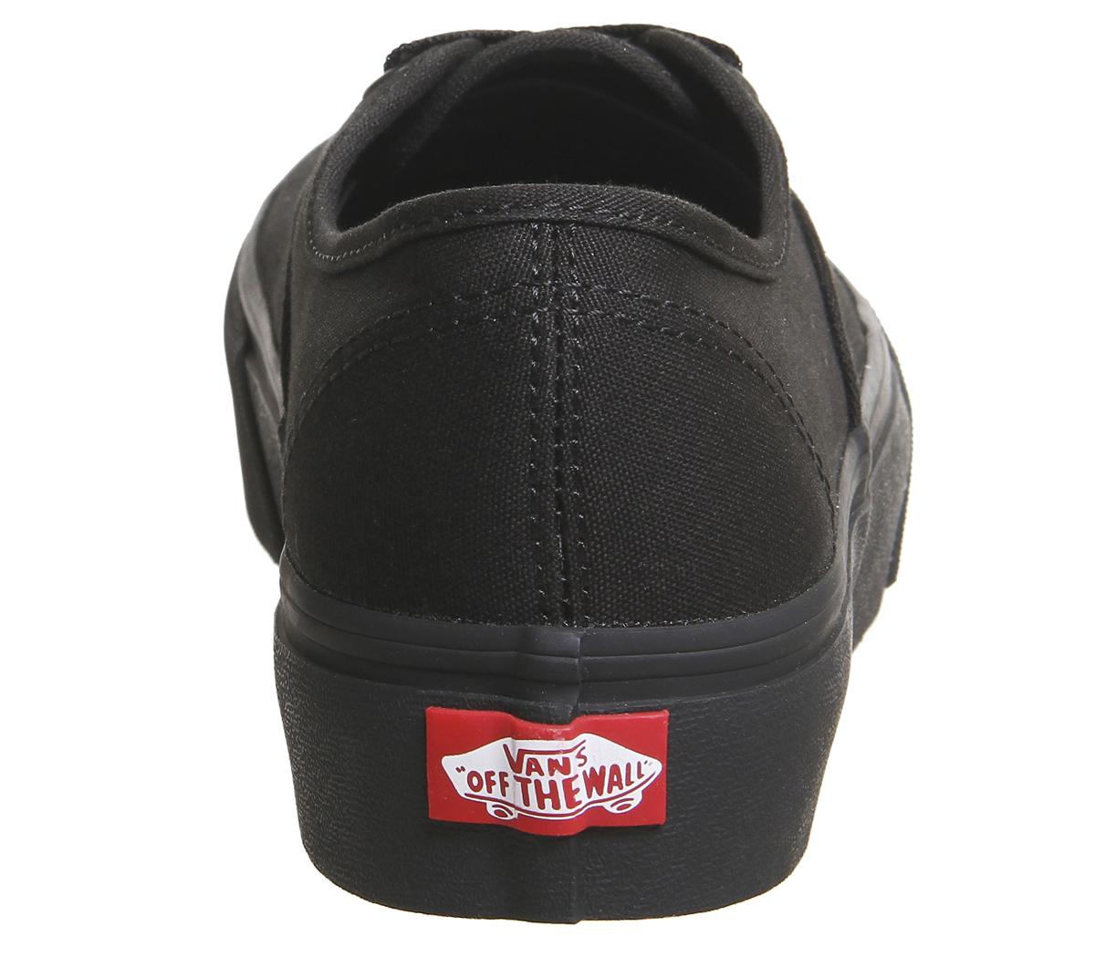 Damenschuhe Platform Vans Authentic Platform Damenschuhe Trainers BLACK Trainers Schuhes cf532c