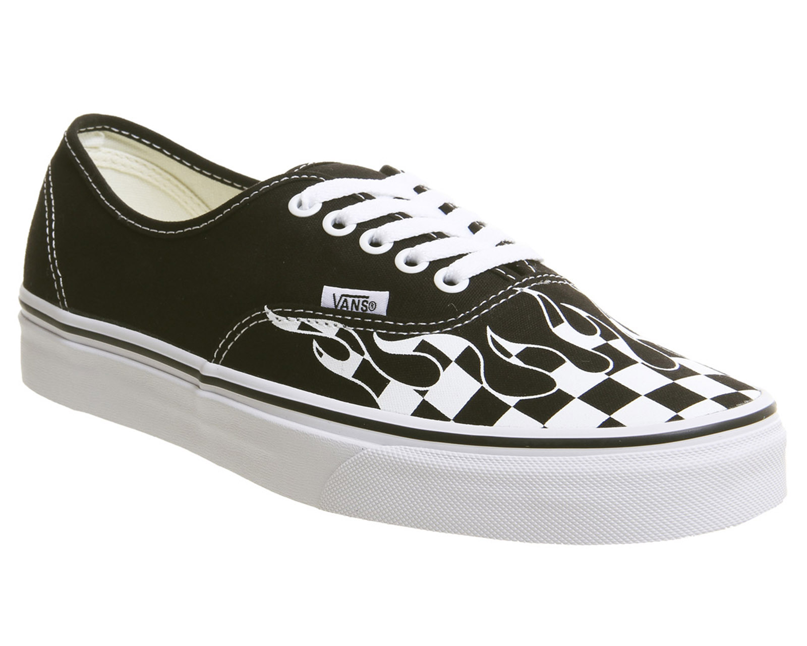 5114818bff Sentinel Mens Vans Authentic Trainers Black True White Check Flame Trainers  Shoes