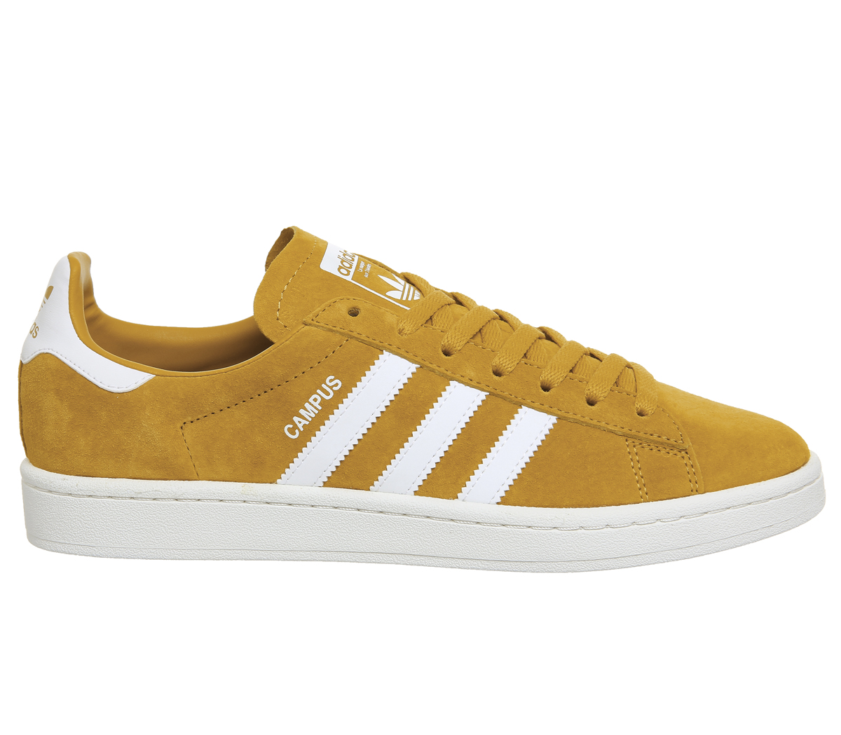 2f70efc1aebe Adidas Campus Trainers TACTILE YELLOW WHITE Trainers Shoes