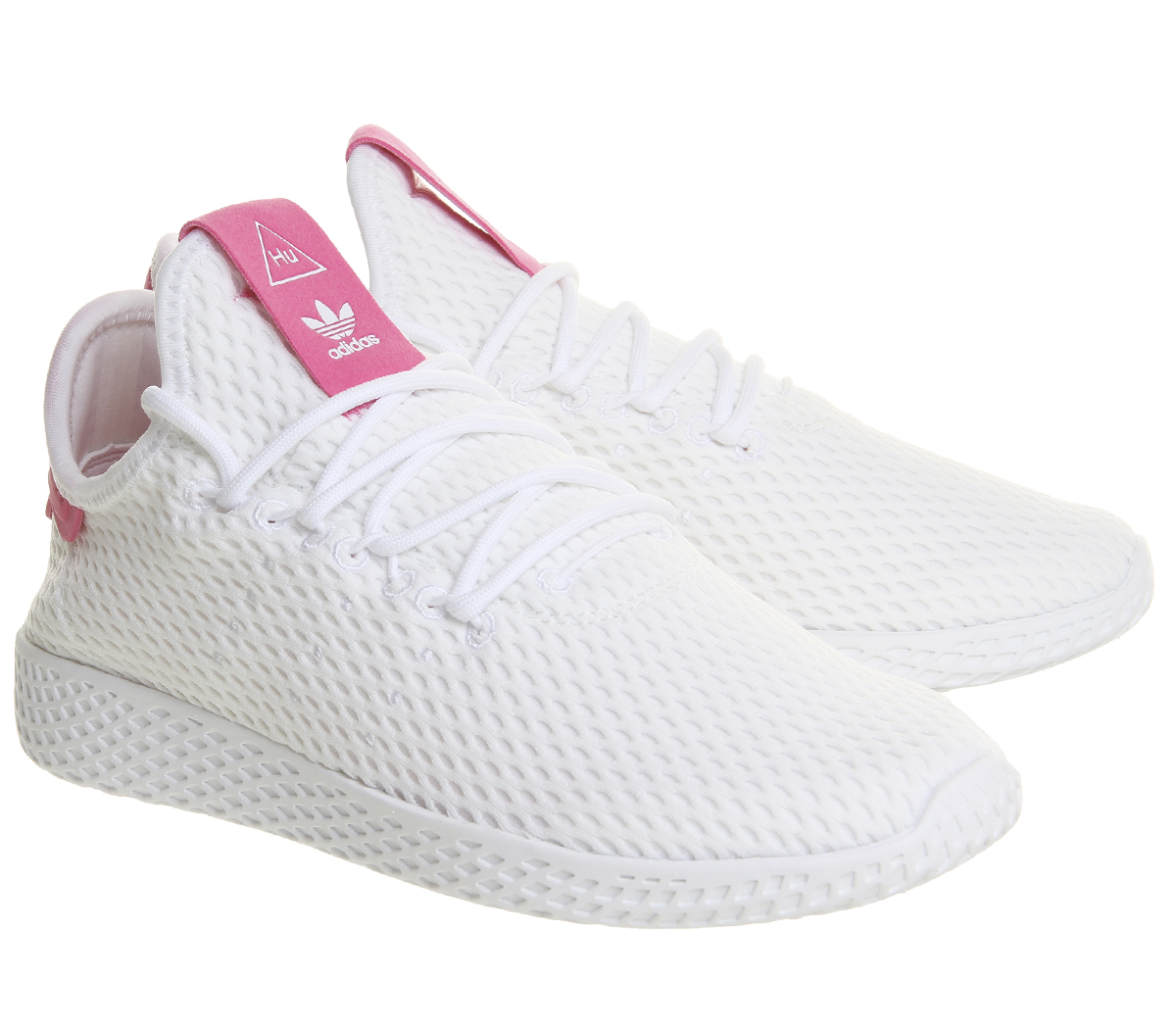 ce17a9fa6798 Adidas Pw Tennis Hu WHITE SEMI SOLAR PINK Trainers Shoes