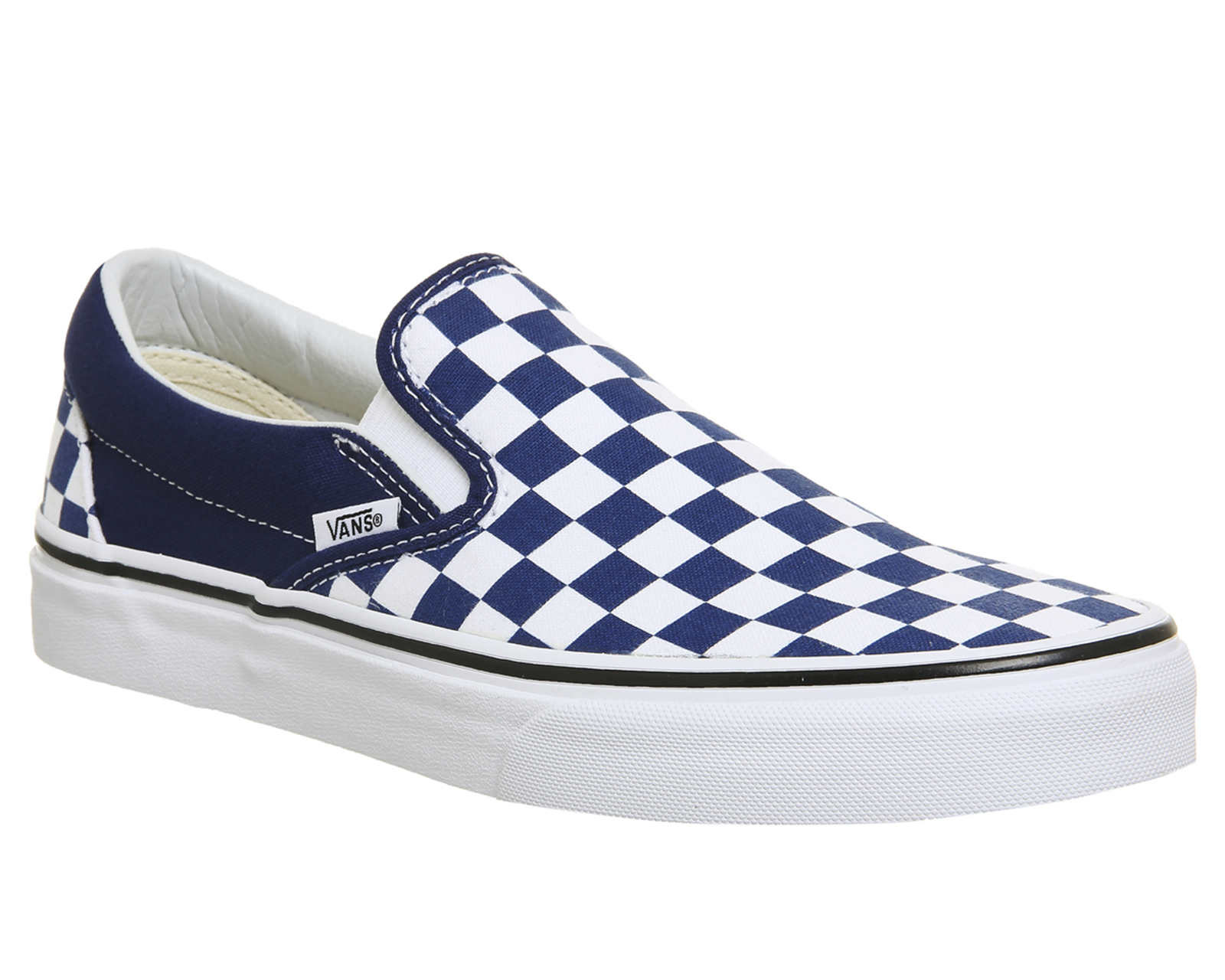 bd5e3075aceee Sentinel Vans Vans Classic Slip On Trainers ESTATE BLUE WHITE CHECKERBOARD  Trainers Shoes