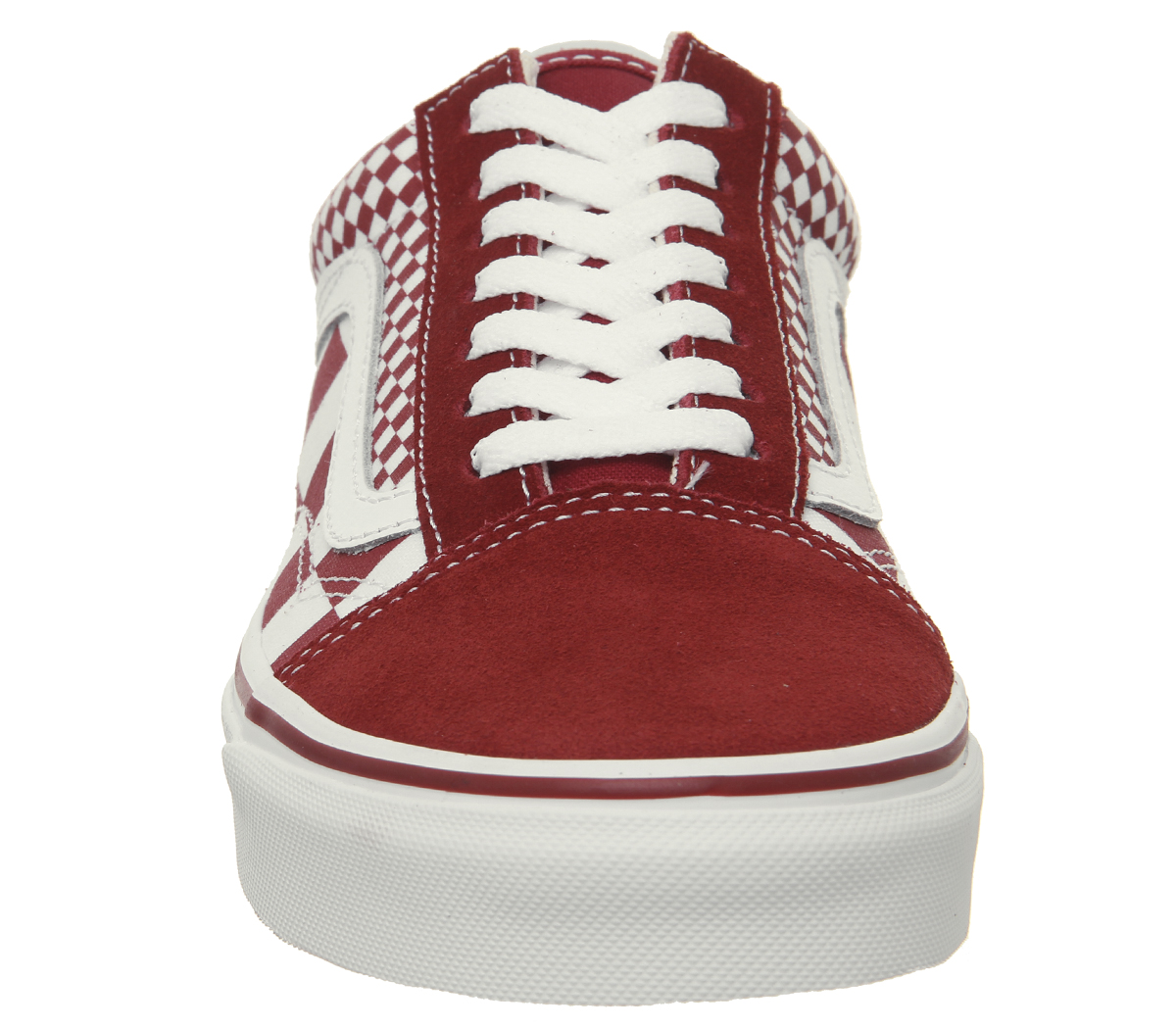 a64d8201ed8 Sentinel Mens Vans Old Skool Trainers Chilli Pepper Mix Check True White  Trainers Shoes
