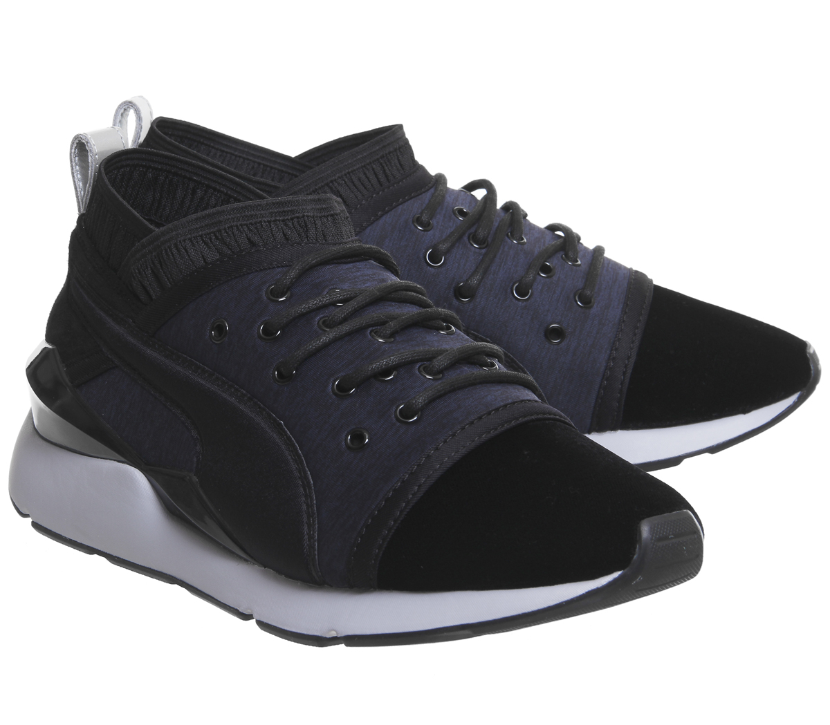 ac4e990afe38 Sentinel Womens Puma Pearl Trainers Black Blue Depths Vr Trainers Shoes