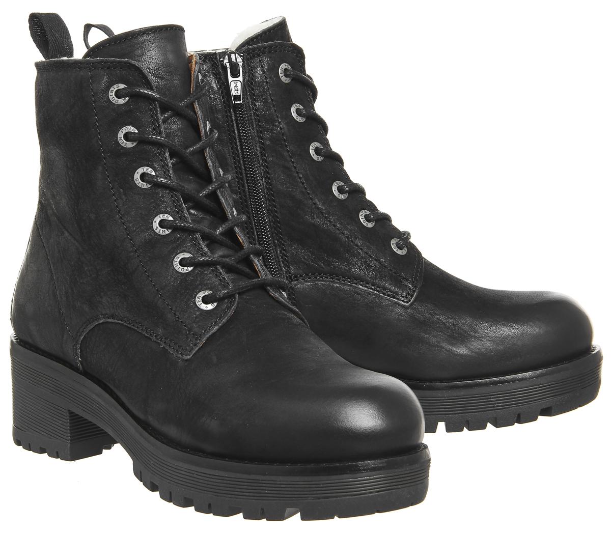 les femmes nubuck noire dix dix noire points clarisse bottes de bottes e880e2