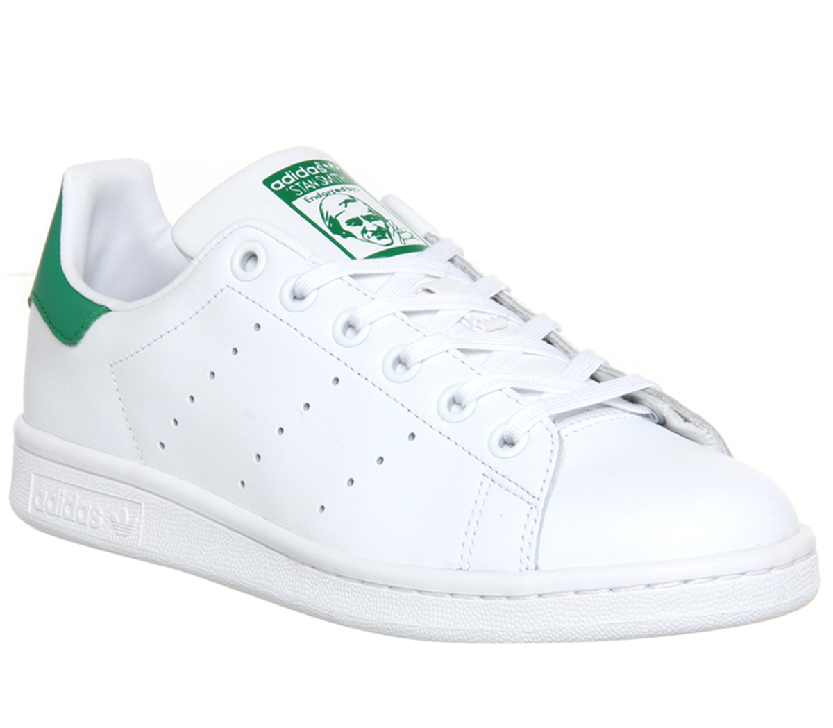 Details about Mens Adidas Stan Smith Trainers Core White Green Trainers  Shoes