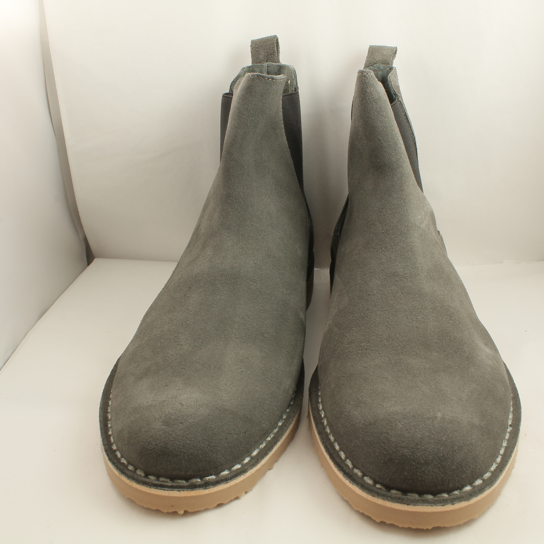 mens office grey suede pull on ankle boots uk size 8 ex