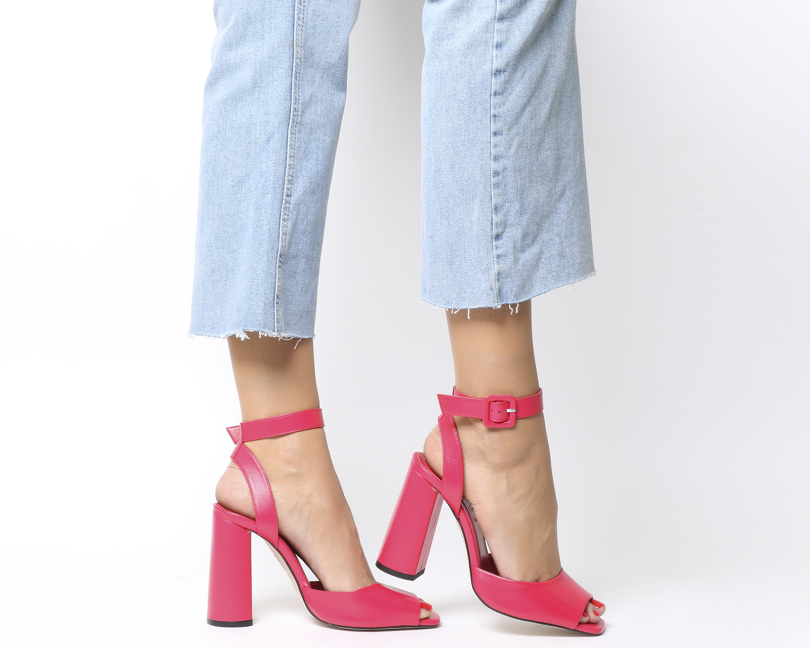 Damenschuhe Office Heartly LEATHER Ankle Strap Heels PINK LEATHER Heartly Heels 5b3c02